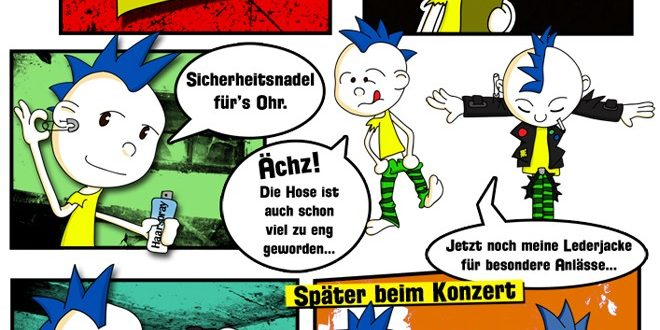 In diesem Punkcomic bekommt Bastard Probleme mit der Szenepolizei