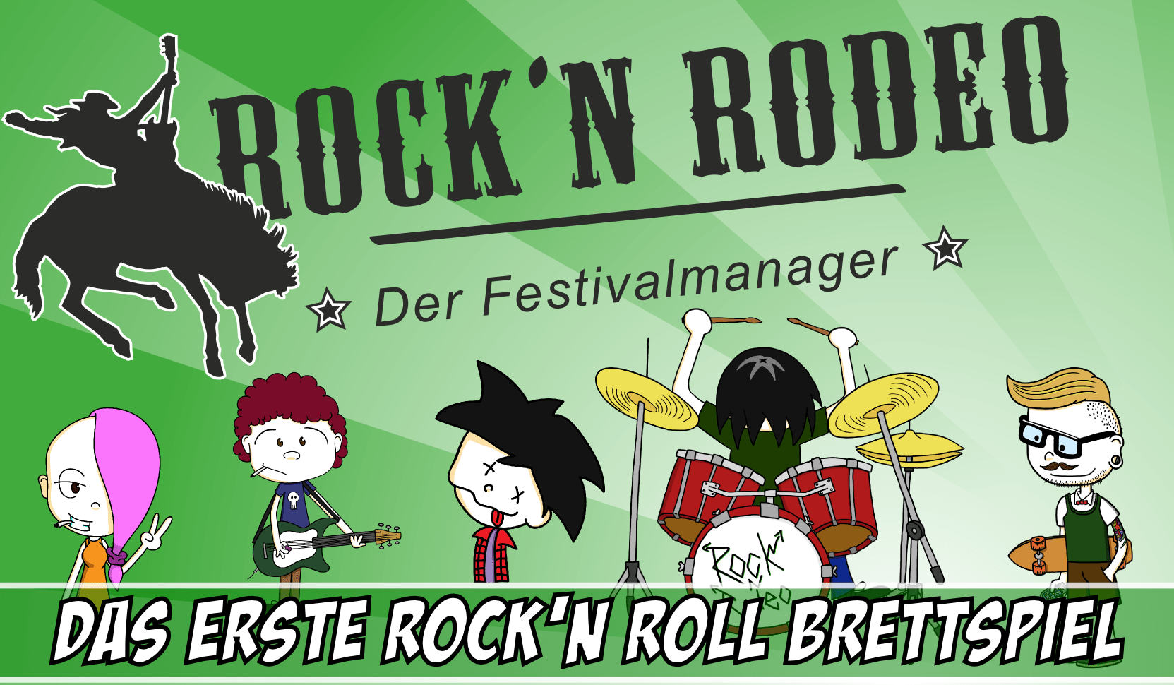 Brettspiel Rock'n Rodeo Crowdfunding auf Startnext