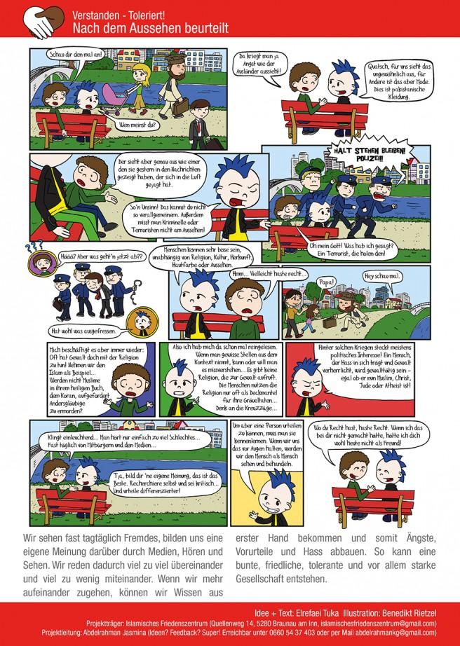 In Zusammenarbeit mit dem islamischen Friedenszentrum Braunau entstand dieser Comic